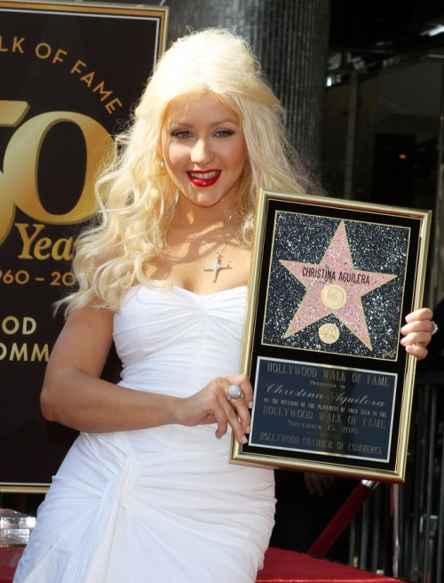 Christina Aguilera, Nicole Richie, Jordan Bratman - Christina con su estrella