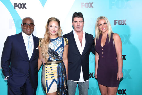 Demi Lovato, Simon Cowell, Britney Spears - Primeras im&#xE1;genes del nuevo jurado de 'X Factor'