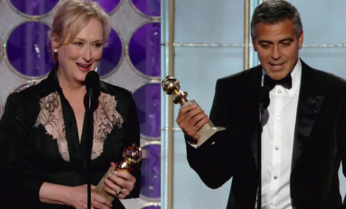 Martin Scorsese, George Clooney, Meryl Streep, Michelle Williams - Meryl Streep Y George Clooney triunfaron en los Globos de Oro al llevarse amobos el premio a mejor interpretaci&#xF3;n dram&#xE1;tica